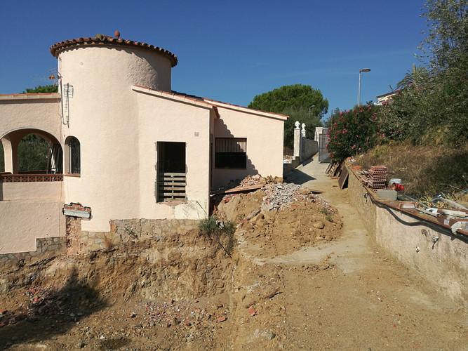 Excavació zona ampliació