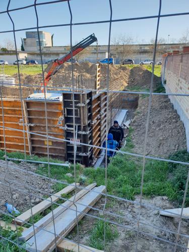 Muntatge murs de contenció
