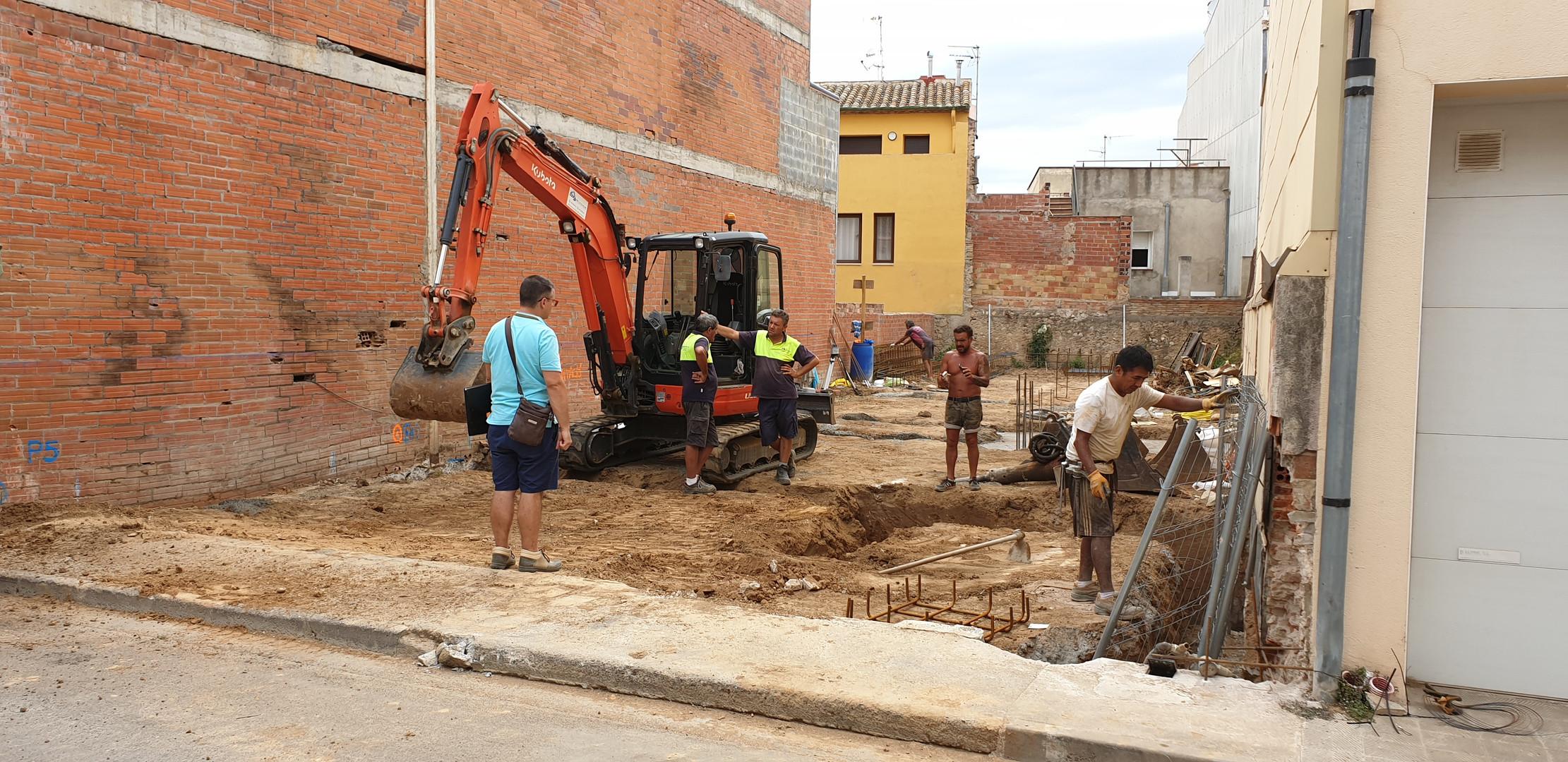 Excavació fonamentació