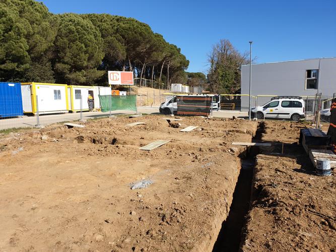 Excavació rases fonamentació