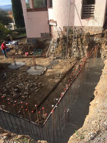 Fonamentació ampliació casa