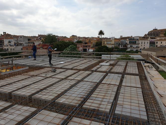 Construcció forjat coberta