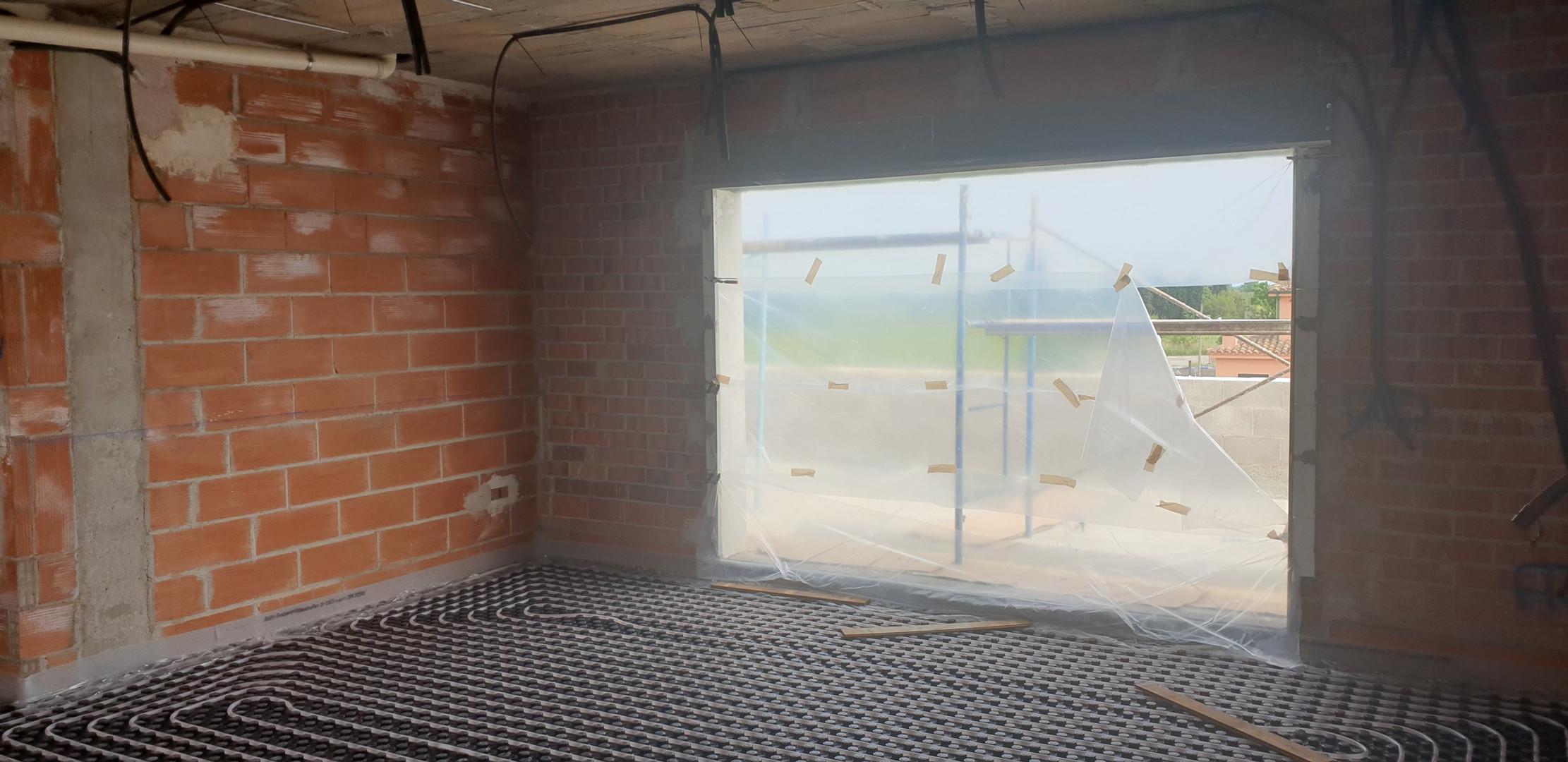 Instal·lació terra radiant