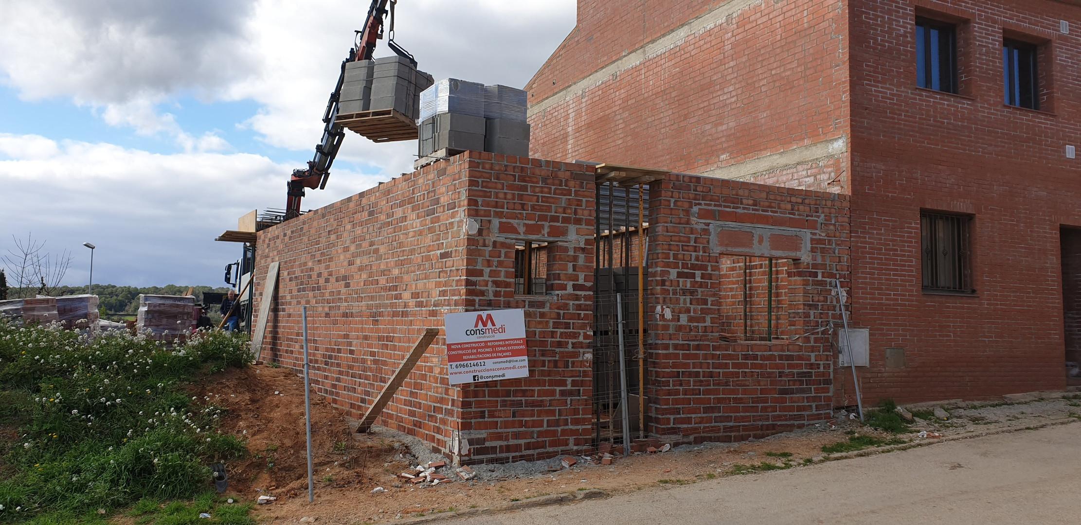 Construcció forjat planta baixa