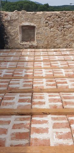 Formació de sostre de planta primera