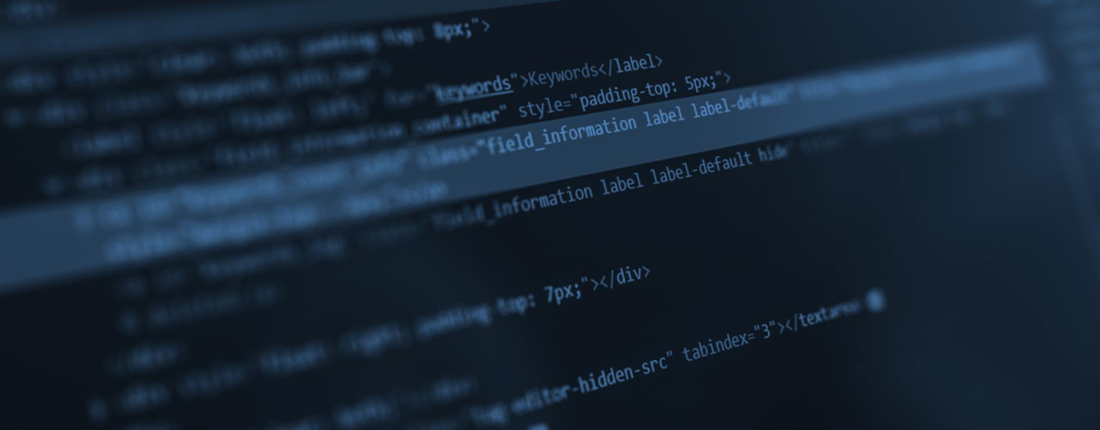 programação html em um computador.
