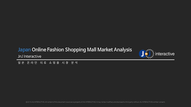 Japan Online Fashion Shopping Mall Marke