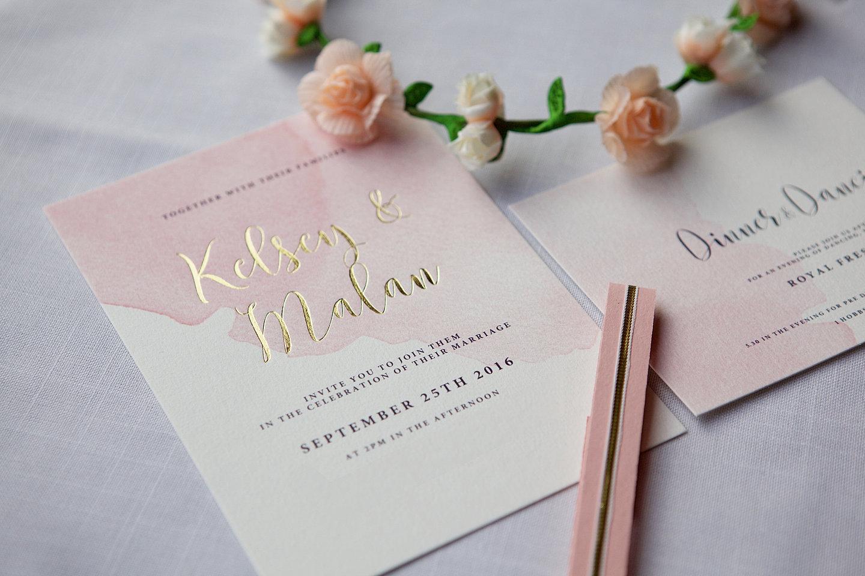 Modern Watermark Wedding Invitations Crest - Invitation Card Ideas ...