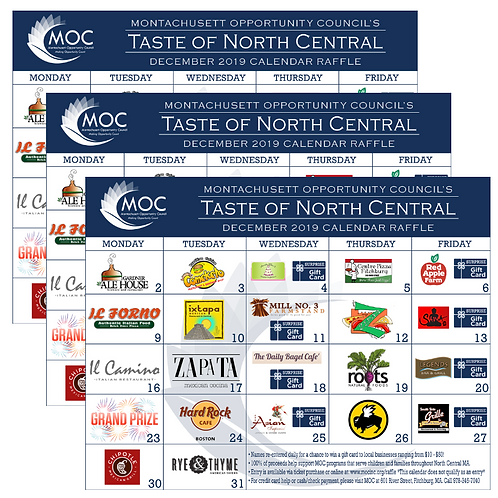 Taste of North Central Calendar - Triple Deal!