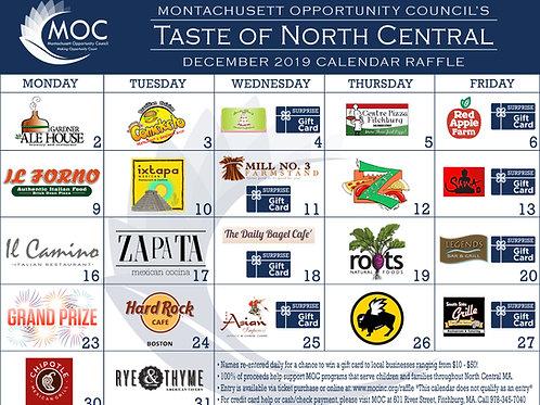 Taste of North Central Calendar Raffle - Single Calendar