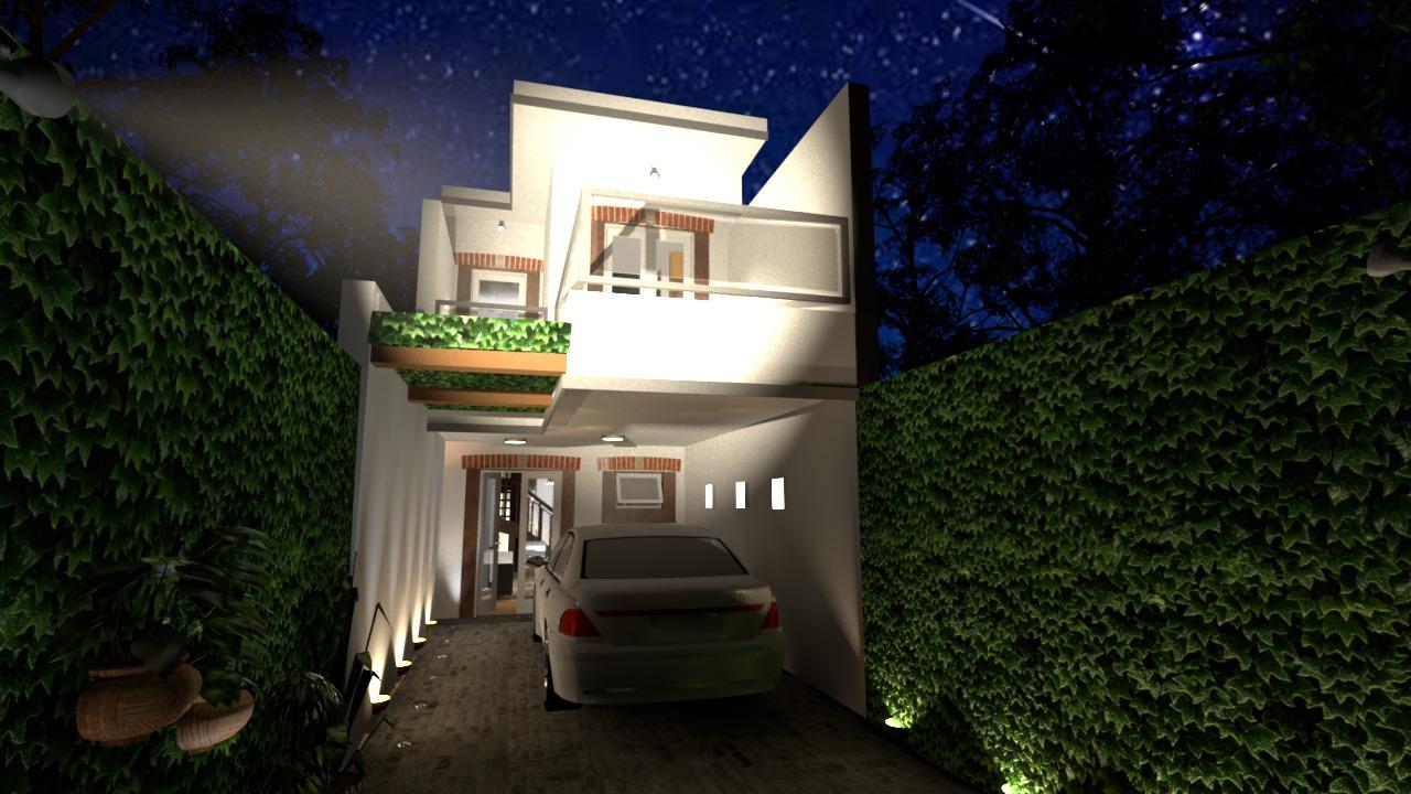 Casa Ouro Preto - Fachada noite