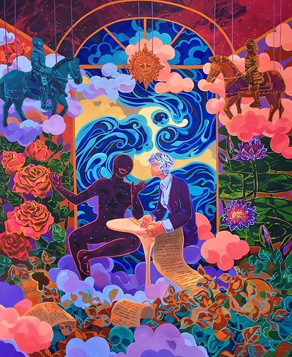 Aurora Santika, 5 Minutes Conversation With the Universe (and Why There Can Never Be Peace), 2020, AOC, 180 x 150 cm