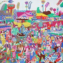 Ummi Shabrina Good Neighbour | 2021 acrylic on canvas | 200 x 200 cm