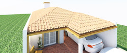 Casa Borges - telhado frente