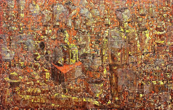 Januri, No Brain, 2020, mixed media on canvas, 200 x 300 cm