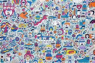 Addy Debil Curious Things | 2021 acrylic on canvas | 200 x 300 cm