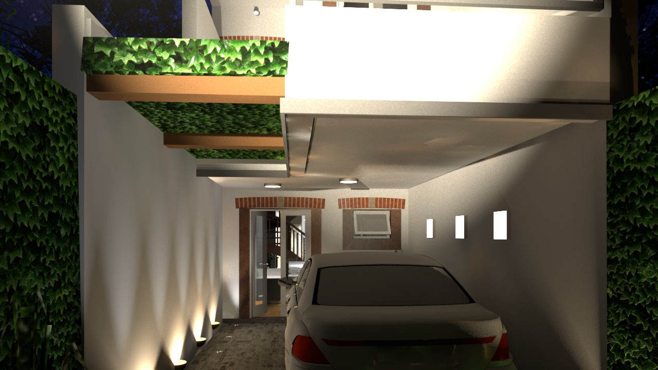 Casa Ouro Preto - garagem noite