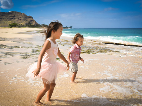 Family Session @ Mā'ili & Yokahama Beaches