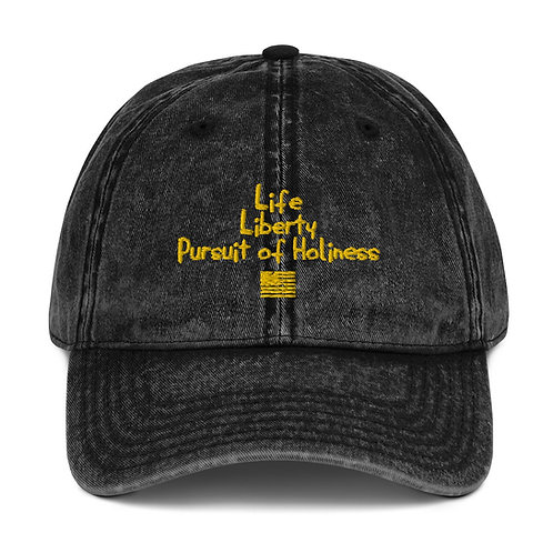 LUSU Designs Vintage Cotton Twill Cap Collection Pursuit of Holiness Midas Label