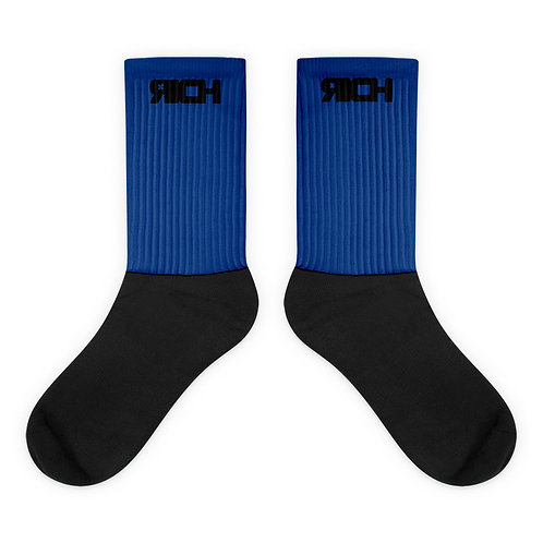 LUSU Designs Sock Collection RICH Noir Label Blue