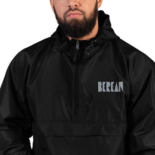 LUSU Designs Embroidered Packable Jacket Collection Berean Platinum Label