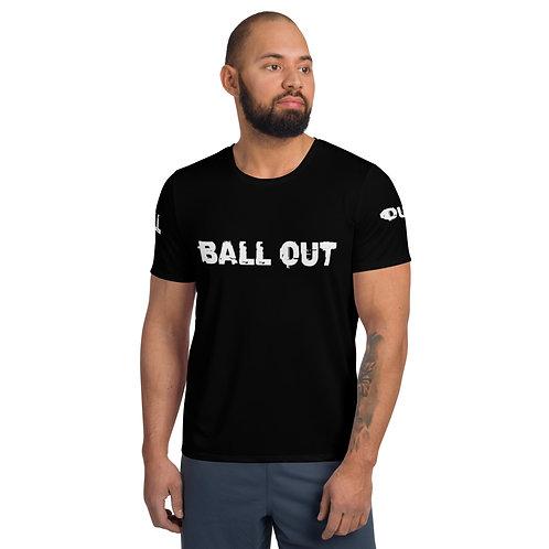 LUSU Designs Men's Athletic MaxDri T-shirt Better Ball Out Blanco Label II