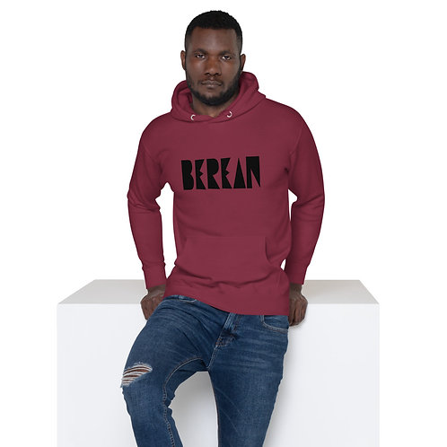 LUSU Designs Unisex Hoodie Collection Berean Noir Label II