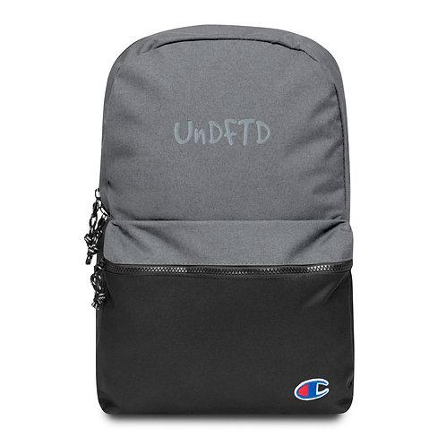 LUSU Designs Embroidered Champion Backpack UnDFTD Platinum Label