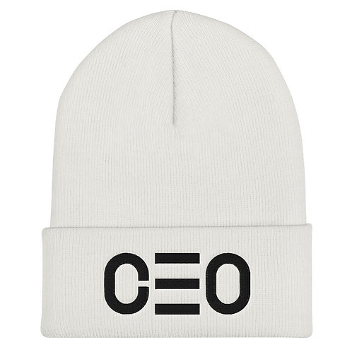 LUSU Designs Cuffed Beanie Collection CEO Black Label