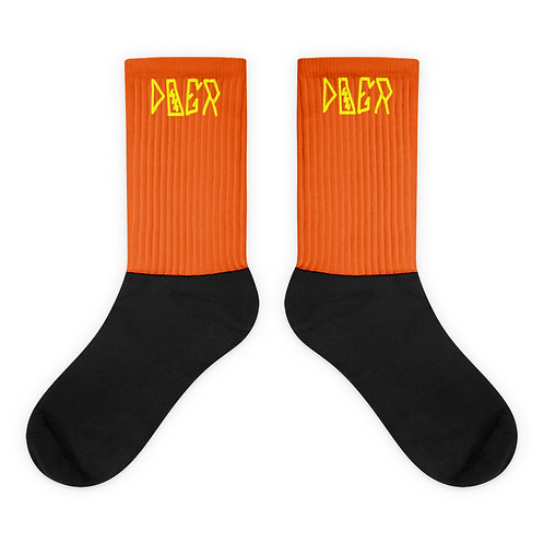 LUSU Designs Sock Collection Doer Canary Label Orange