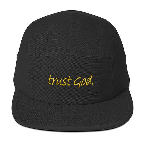 LUSU Designs Five Panel Cap Collection Trust God. Midas Label
