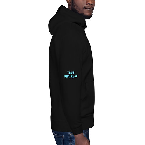 LUSU Designs Unisex Hoodie Collection True REALigion Azure Label II
