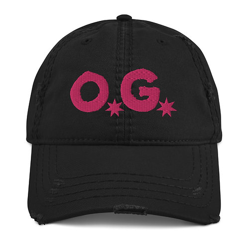 LUSU Designs Distressed Dad Hat Collection OG Flamingo Label