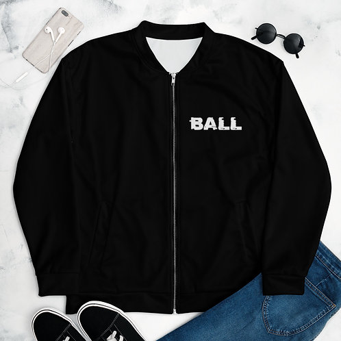 LUSU Designs Unisex Bomber Jacket Collection Ball Out Blanco Label I