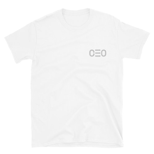 LUSU Designs Short-Sleeve Unisex T-Shirt Collection CEO White Label II