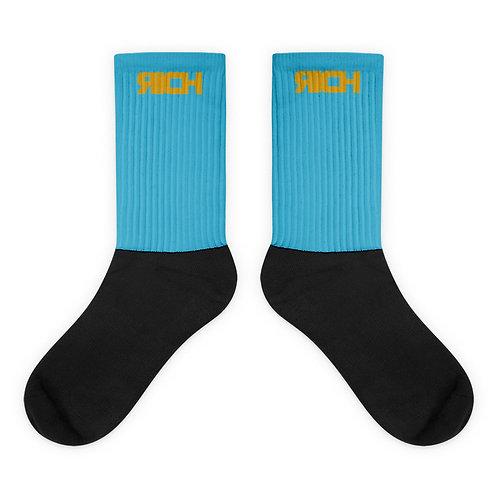 LUSU Designs Sock Collection RICH Midas Label Lt Blue