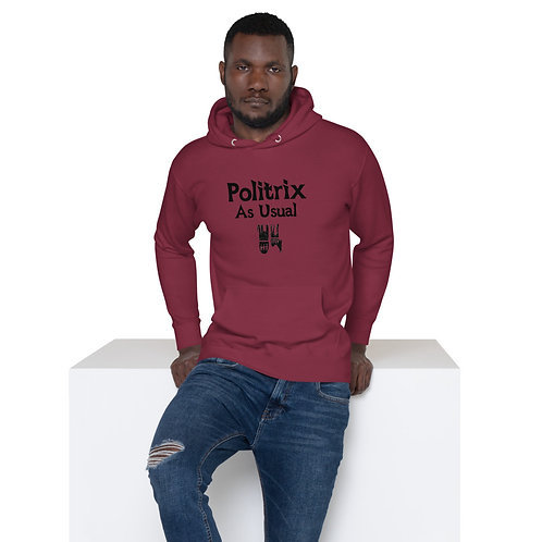 LUSU Designs Unisex Hoodie Collection Politrix As Usual Label II
