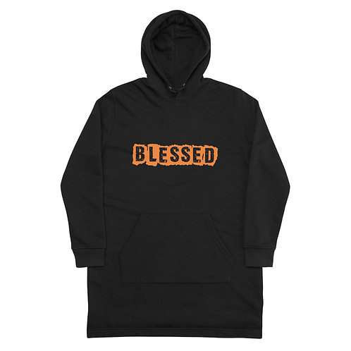 LUSU Designs Hoodie Dress Collection Blessed Tangerine Label