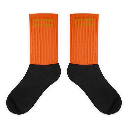 LUSU Designs Socks Collection Pray Hard Play Hard Midas Label VI