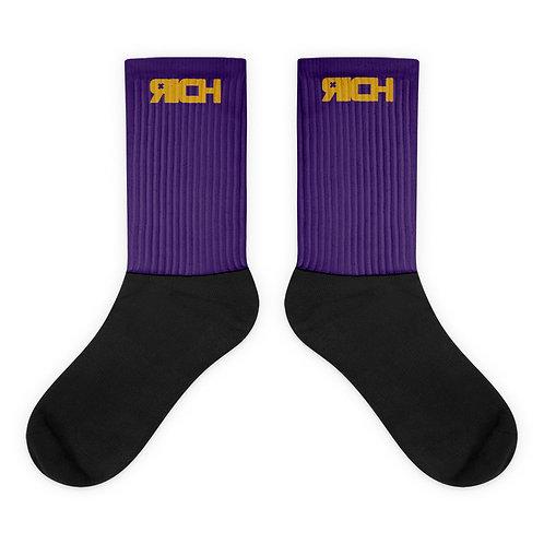 LUSU Designs Sock Collection RICH Midas Label Purple