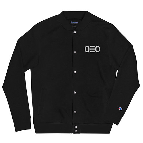 LUSU Designs Embroidered Bomber Jacket Collection CEO White Label