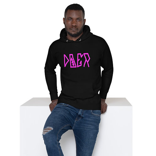 LUSU Designs Unisex Hoodie Collection Doer Flamingo Label I