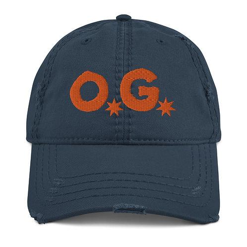 LUSU Designs Distressed Dad Hat Collection OG Tangerine Label