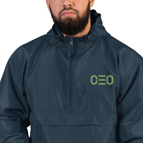 LUSU Designs Embroidered Packable Jacket Collection CEO Kiwi Label