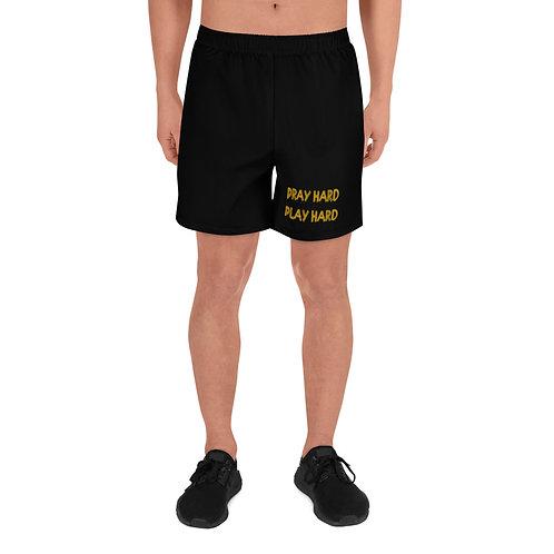 LUSU Designs Men's Athletic Shorts Collection Pray Hard Play Hard Midas Label I