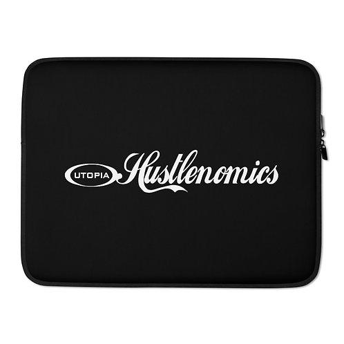 LUSU Designs Laptop Sleeve Collection Hustlenomics Label II Black