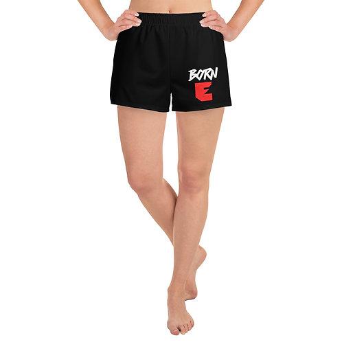 LUSU Designs Women's Athletic Short Shorts Born Ready Blanco Label I