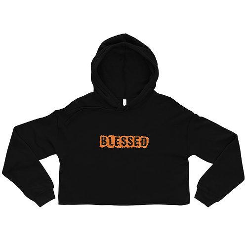 LUSU Designs Crop Hoodie Collection Blessed Tangerine Label