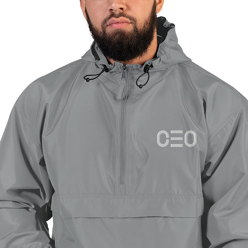 LUSU Designs Embroidered Packable Jacket Collection CEO Blanco Label