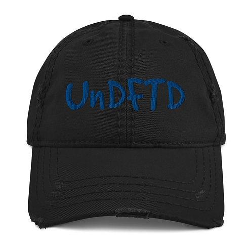 LUSU Designs Distressed Dad Hat Collection UnDFTD Royal Label